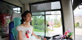 perempuan setir bus