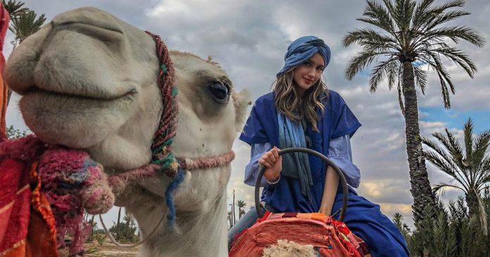 Fashion Cinta Laura di Maroko