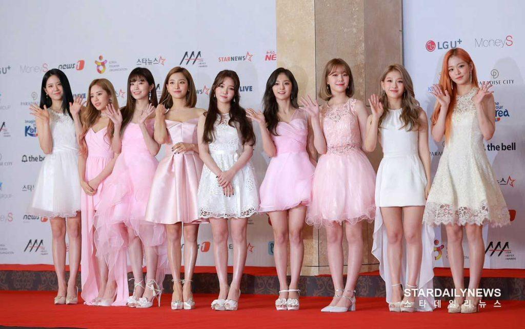 gaun-terbaik fromis_9-di-aaa-2018-1