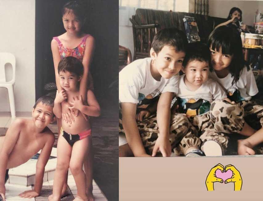 foto-masa-kecil-artis-raline shah
