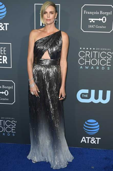 gaun-terbaik-critic's-choice awards 2019 charlize theron