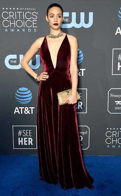 gaun-terbaik-critic's-choice awards 2019 emmy rossum