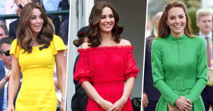 gaun kate middleton warna-warni 2