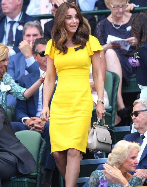 gaun kate middleton warna-warni