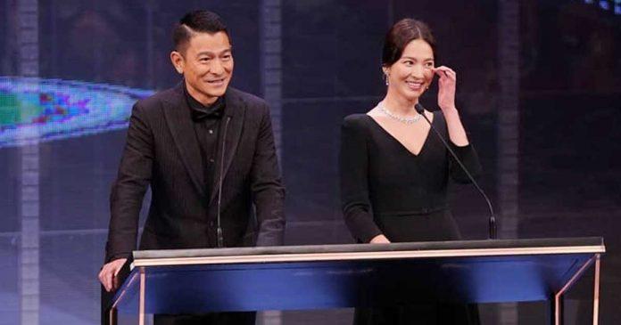 andy lau dan song hye kyo di hong kong film awards