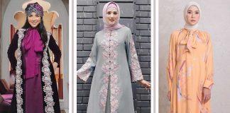 model-gamis-kekinian artis indonesia