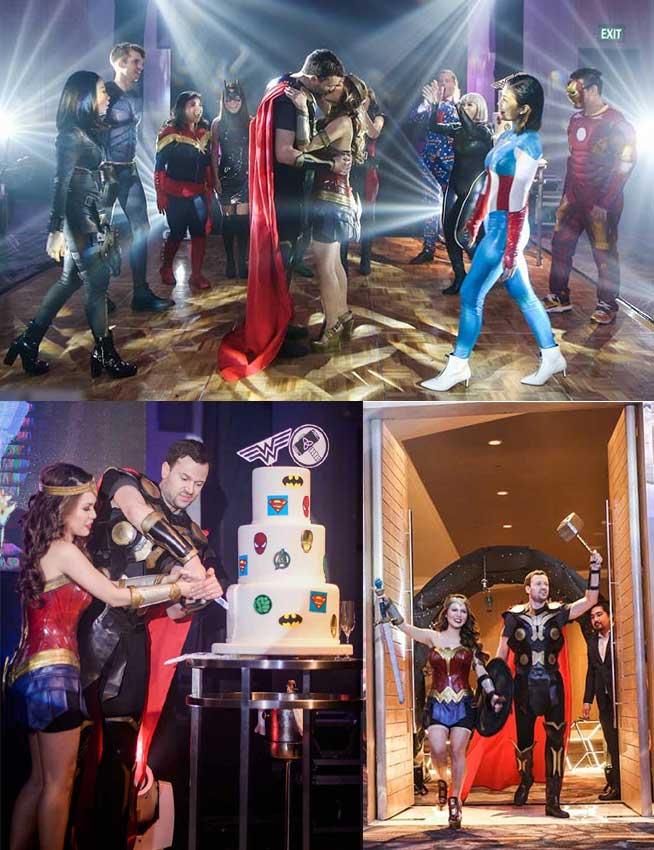 tema pernikahan fantasi superhero