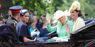 kate middleton dan meghan markle trooping the colour 2019