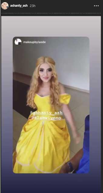 Ashanty-sebagai-belle