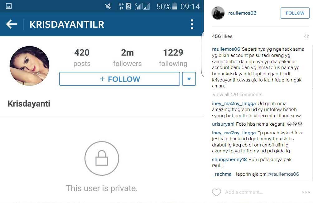 krisdayanti-akun-instagram-dihack