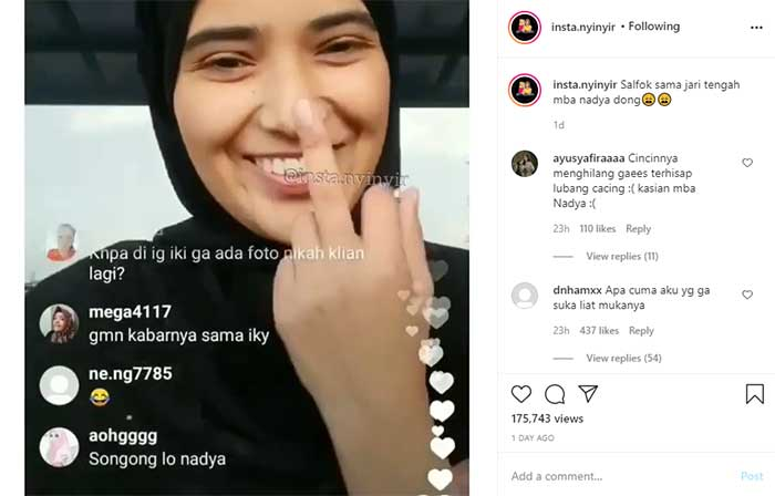 Instagram Nadia Mustika Rahayu