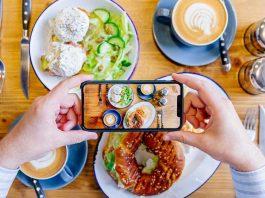 Foto makanan dengan HP