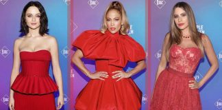 baju-merah-artis-people's-choice-awards-2020