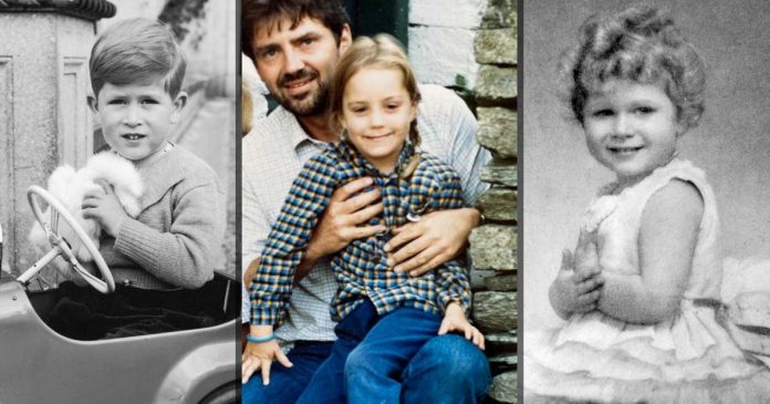 foto masa kecil anggota keluarga royal family