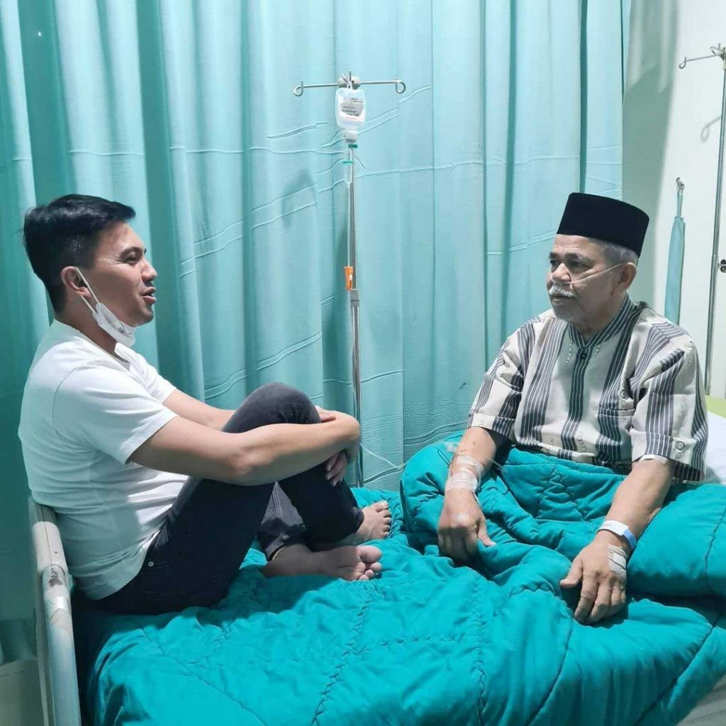 ayah sahrul gunawan sakit musibah