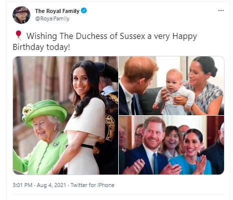 ulang tahun meghan markle ucapan ratu elizabeth ii
