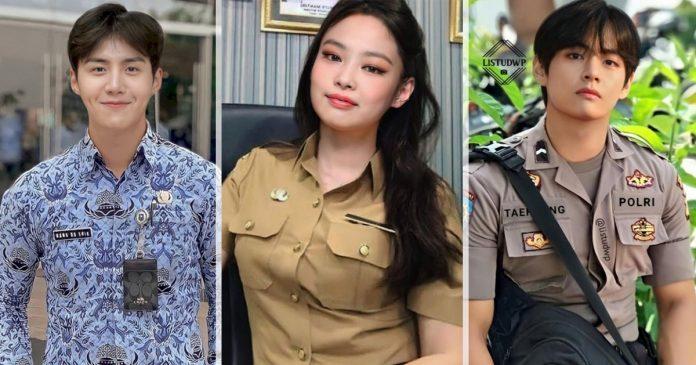 foto-artis-korea-editan-pns-seragam-polisi-profesi-indonesia