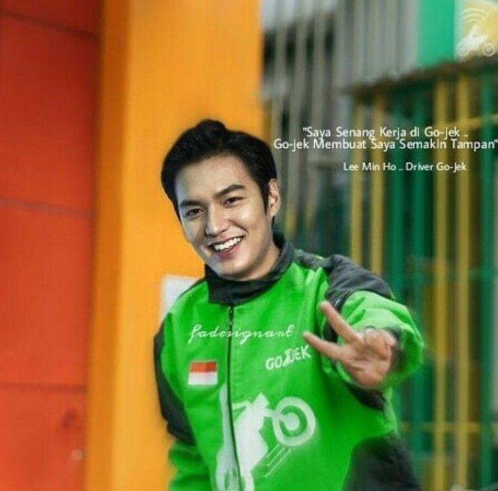 lee min ho driver ojol foto artis korea edit seragam ojol indonesia
